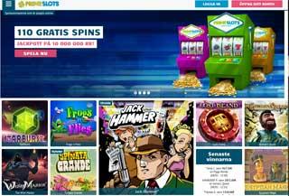 PrimeSlots-hemsida