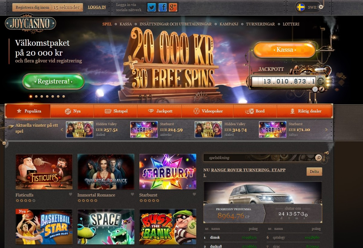 JoyCasino Screenshot