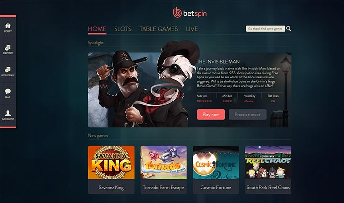 Betspin Screenshot