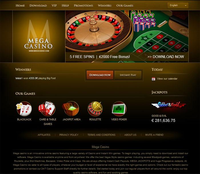 Mega Casino Screenshot